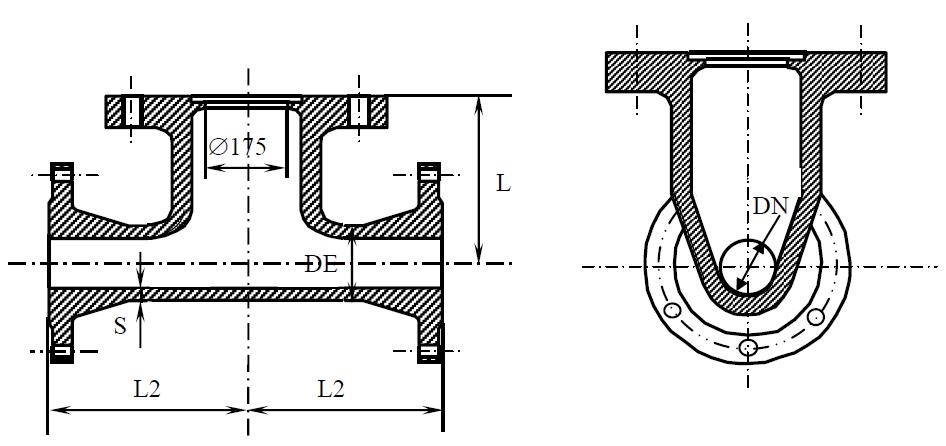 Пожарная подставка фланцевая схема