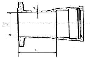Патрубок фланец-раструб схема