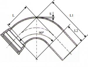 Колено раструб-гладкий конец схема