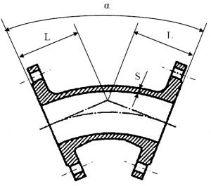 Отвод фланцевый схема