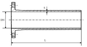 Патрубок фланец-гладкий конец схема