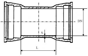 Двойной раструб ДР схема