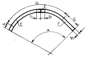 Отвод гнутый методом холодного гнутья из двух труб